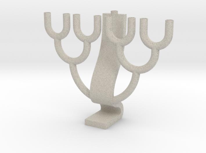 Binary Tree Menorah 3d printed
