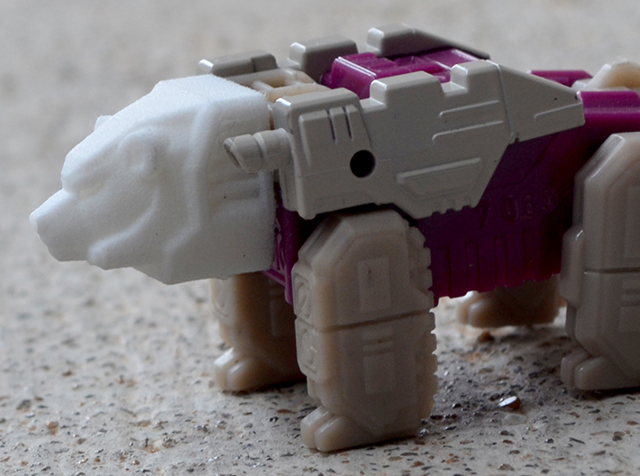 Bear Head for Shuffler/Ramhorn 3d printed Bear mode, white strong and flexible