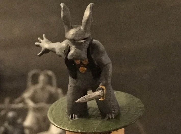 Cerebus the Aardvark Miniature 3d printed Actually, this is Frosted Ultra Detail that they say cant be printed.