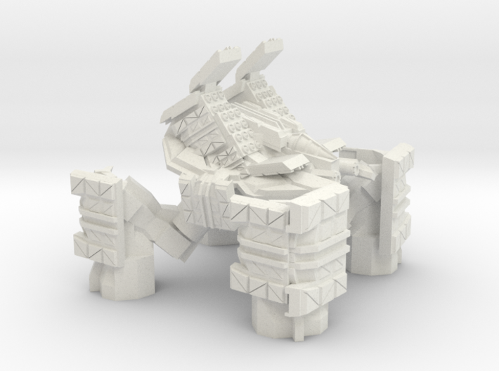 Quad Mech Heavy Missile Carrier 3d printed