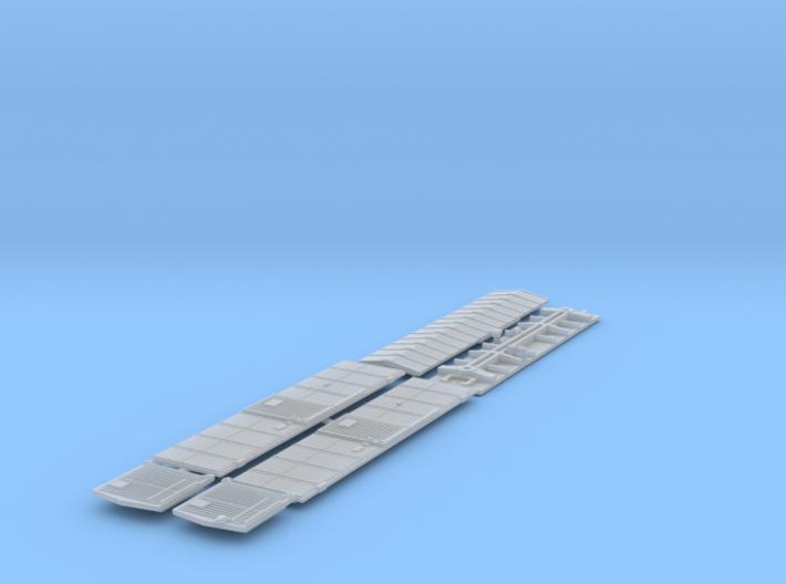 ATSF BOXCAR Bx-3/6, rebuilt door, complete shell 3d printed