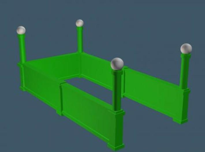 Subway Entrance - set of 4 - Z Scale 3d printed
