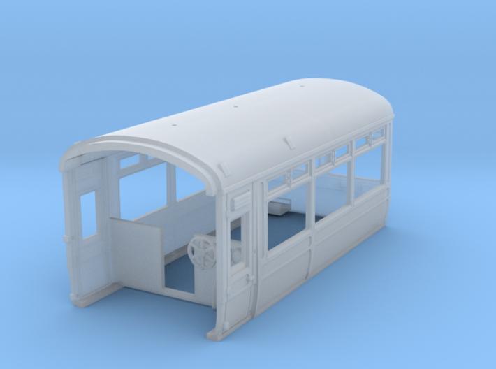LNWR Observation car, Body A, OO 3d printed