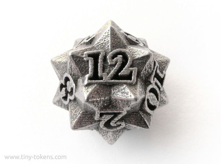 Faceted - D12, twelve sided gaming dice 3d printed