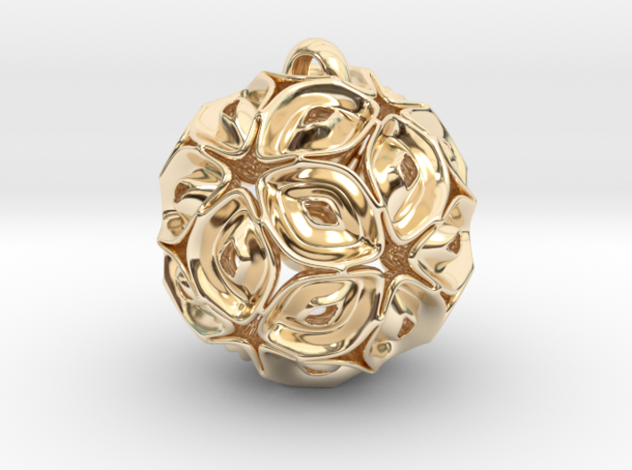 View of spherical games - part three. Pendant 3d printed