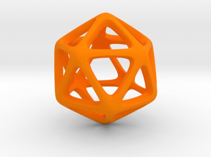 Icosahedron Platonic Solid  3d printed