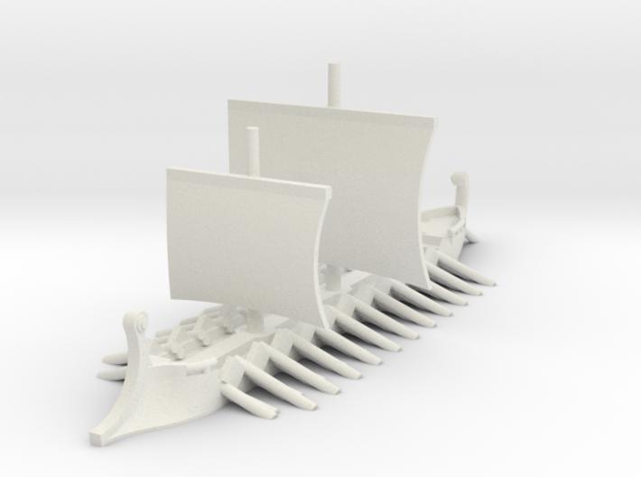 1/700 Trireme 3d printed
