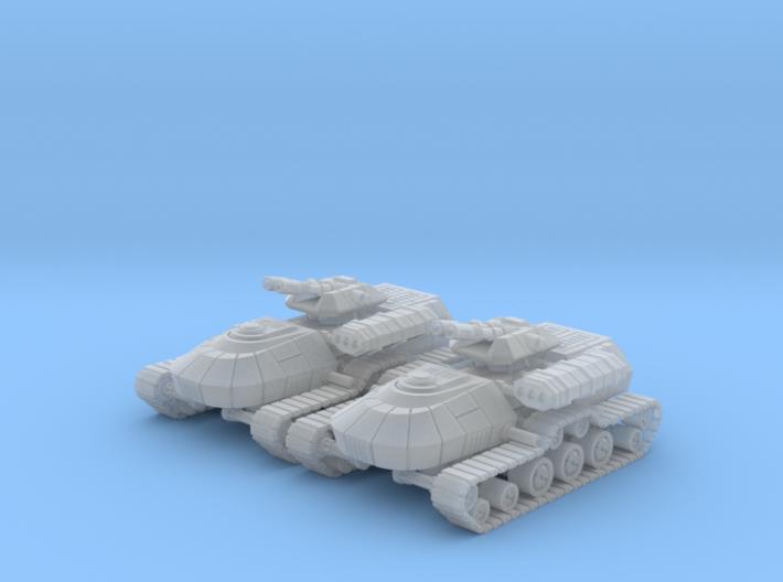 1/270 Rebel T3-B Heavy Attack Tanks (2) 3d printed
