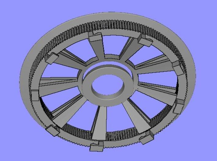 Belt disk for eBike 180Z HTD 3M 12mm 36 spokes 3d printed