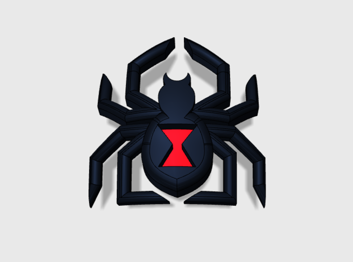 60x Black Widow : Shoulder Insignia pack 3d printed