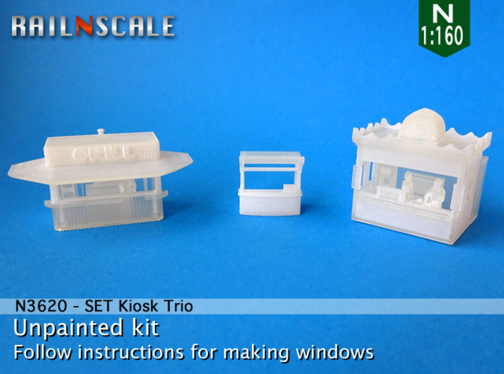 SET Kiosk Trio (N 1:160) 3d printed