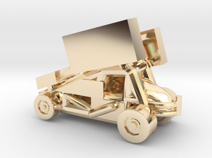 Stainless Sprint Car 3d printed