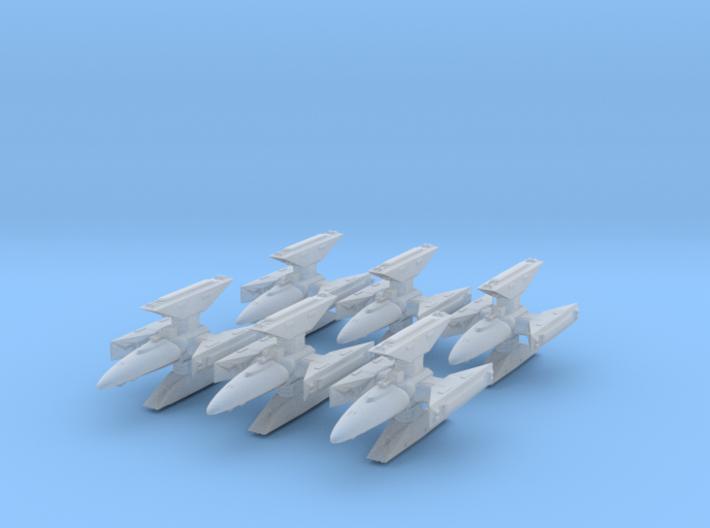 Centauri Republic Kutai Gunship x6 25mm 3d printed