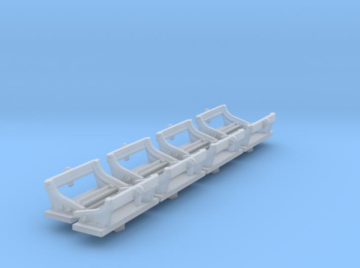 1/72 Deep Charge Empty Rack Type C Set004 3d printed