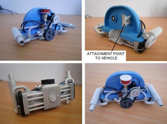 Scale engine replica for tamiya sand scorcher and  3d printed Add a caption...