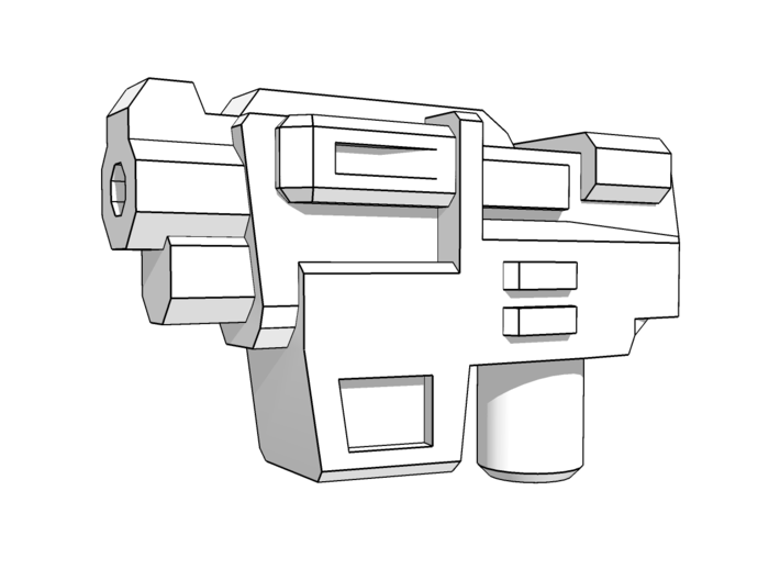 """""""HAMMER-7"""" Transformers Weapons (5mm post) 3d printed Set comes with 2 pistols."""