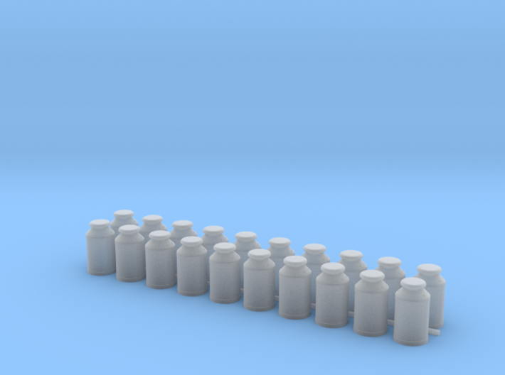 Thirteen Gallon (50 L) Cylindrical Milk Churn 3d printed