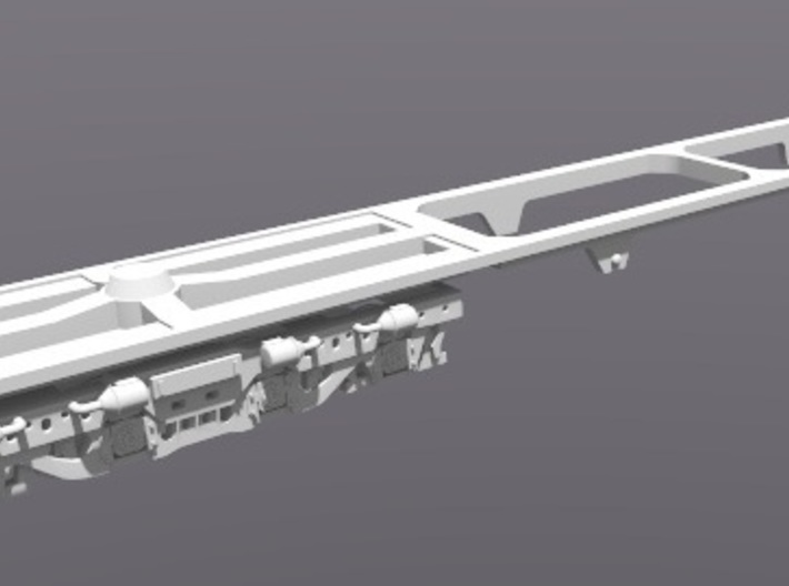 DDA40X Replacment Chassis For Dummy Loco N Scale 3d printed Trucks Not Included
