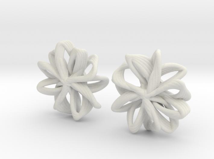linked petals studs 3d printed