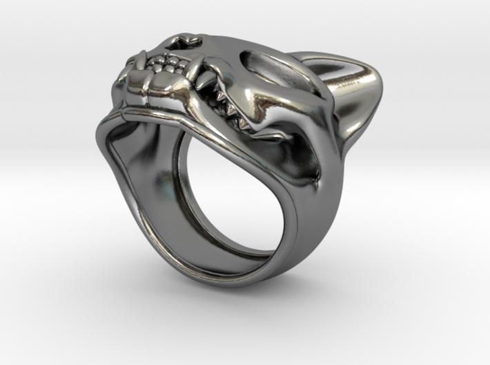 Cat Skull Ring 3d printed