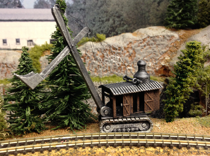 Steam Shovel Z Scale 3d printed Steam Shovel