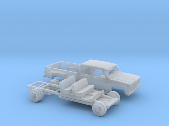 1/87 1980-88 Chevrolet Silv. Crew Dually Cust.Kit 3d printed