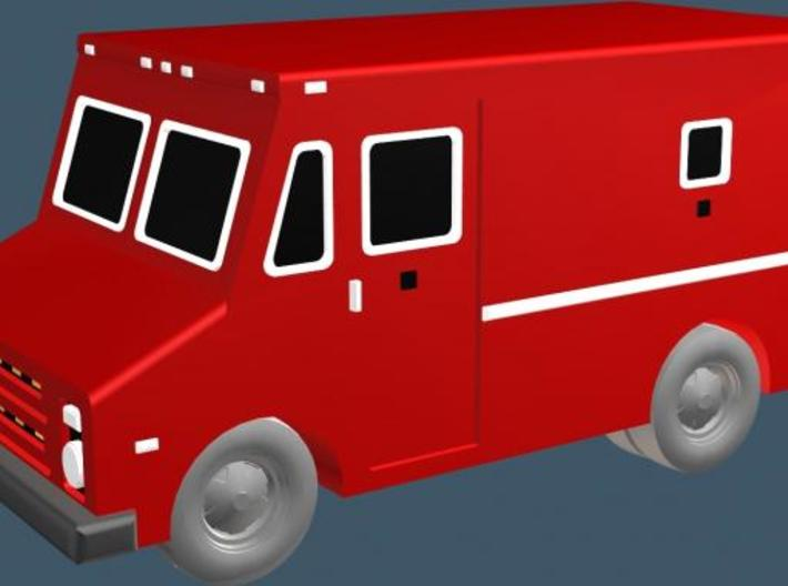 Armored Car - Z scale 3d printed Color Render