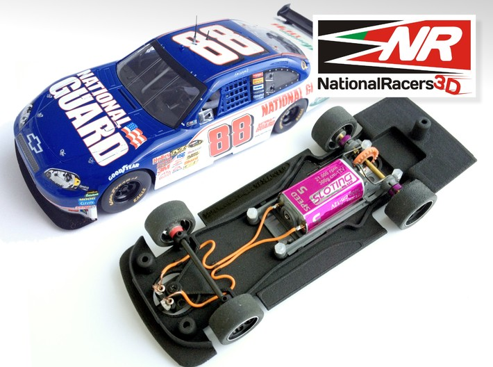 3D Chassis - SCX Chevrolet Impala SS 2008 (Combo) 3d printed Chassis compatible with SCX model (slot car and other parts not included)