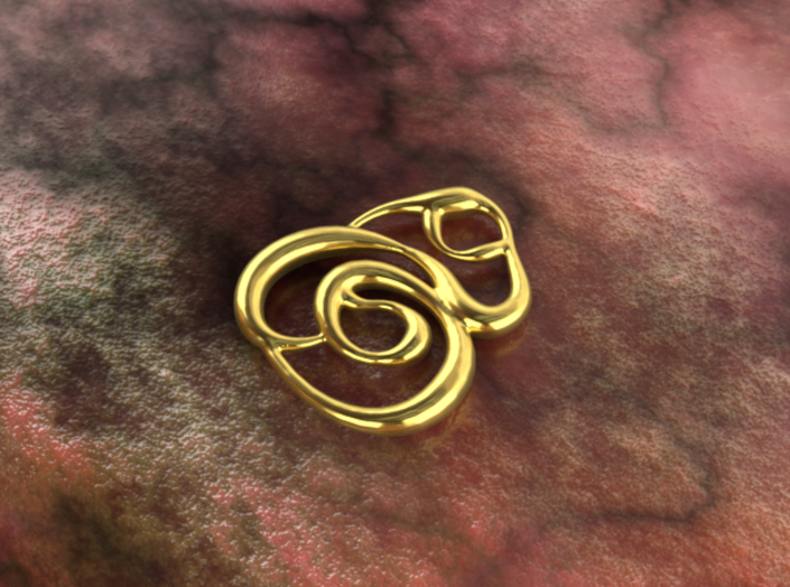 Swirly circles 3d printed gold material