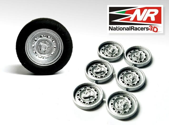 3D Wheel Inserts - Jaguar Dunlop Wheels 3d printed