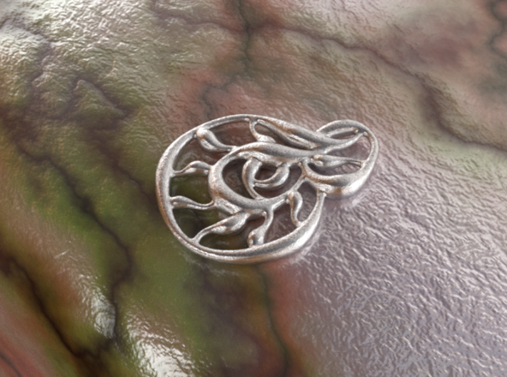 Double wave 3d printed raw silver material