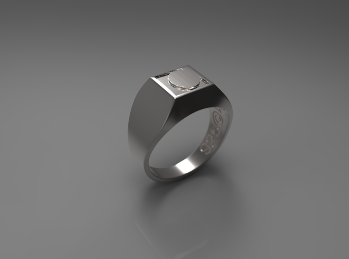 Letter L Ring 002 3d printed