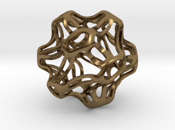 Symmetrical Sphere Twisted 3d printed