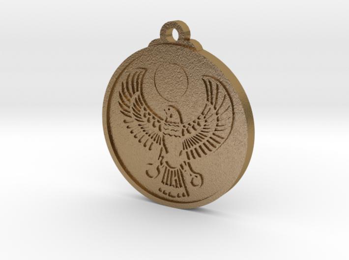 Egyptian RA Falcon Pendant 3d printed