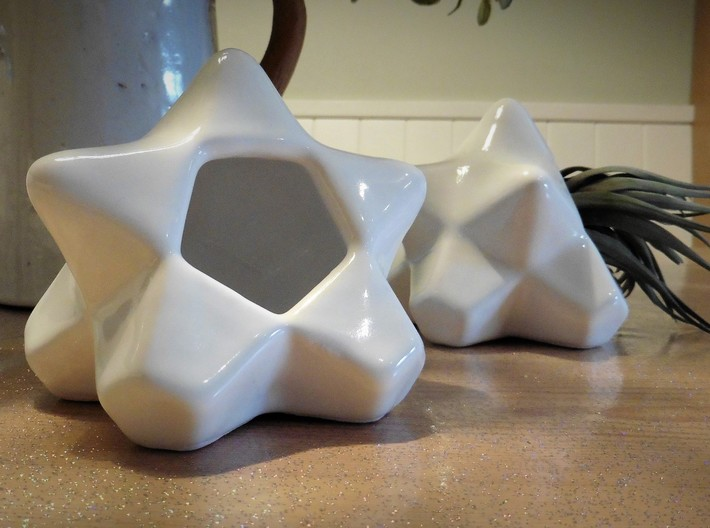 AIRhabitat Star Box 3d printed Gloss White Porcelain