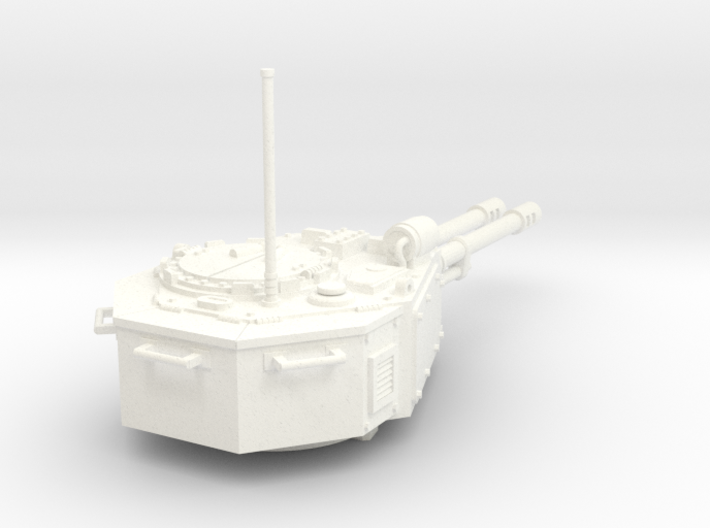 28mm tank turret automatic cannons 3d printed