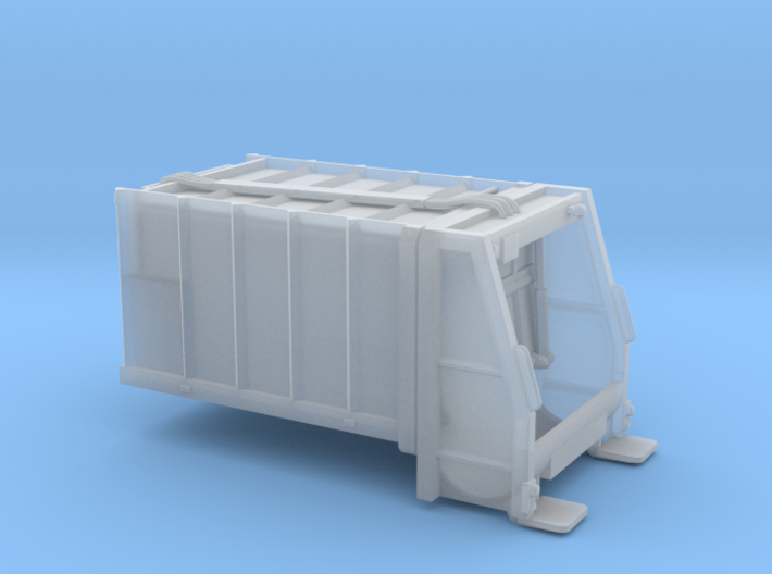 Dumpster body for truck - Benne à ordure - HO 3d printed