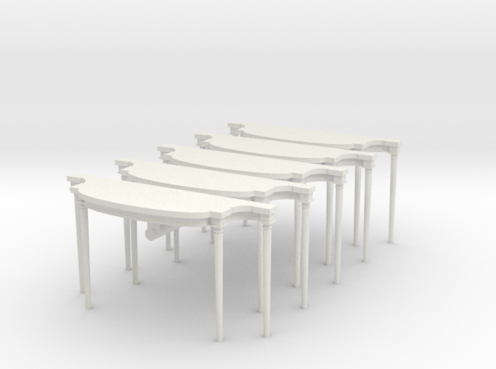 5 - 1:48 Louis XVI Console Side Table 3d printed