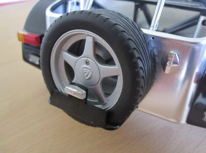 CATERHAM Tire Front Right x1 Black Acrylic 1-12 3d printed