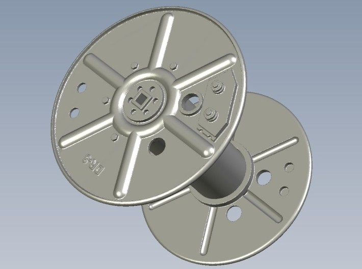 1/6 scale WWII radio telephony wire reels DR-8 x 3 3d printed