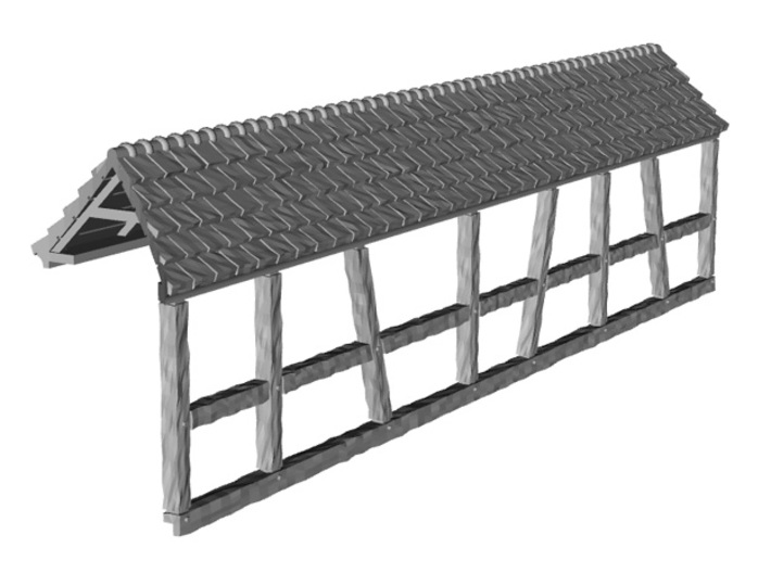 HOF034b - Roof for castle wall 4 3d printed