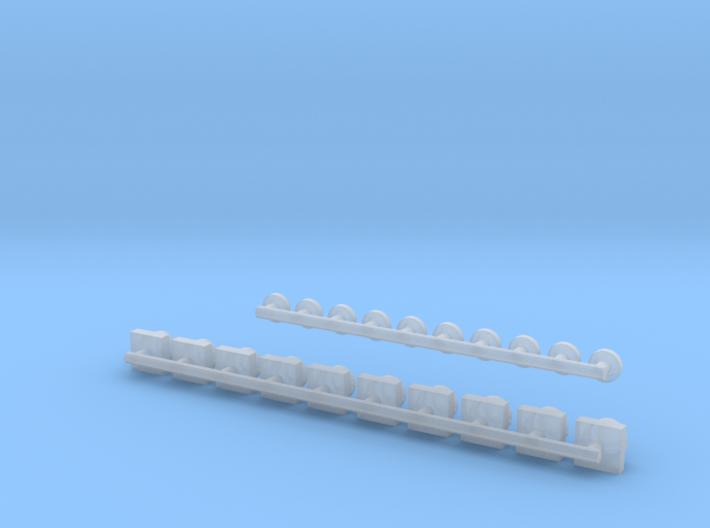 GE C39 8-Lights(HO/1:87 Scale) 3d printed