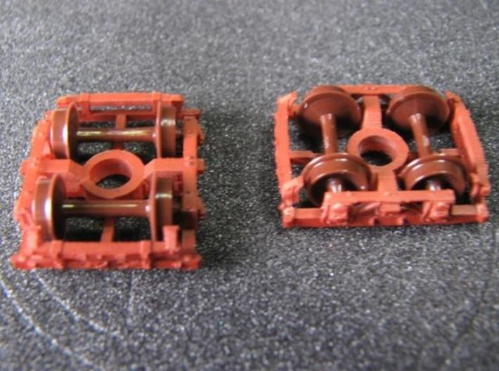 T30p N 8 wood beam trucks USMRR Civil War, pin 3d printed