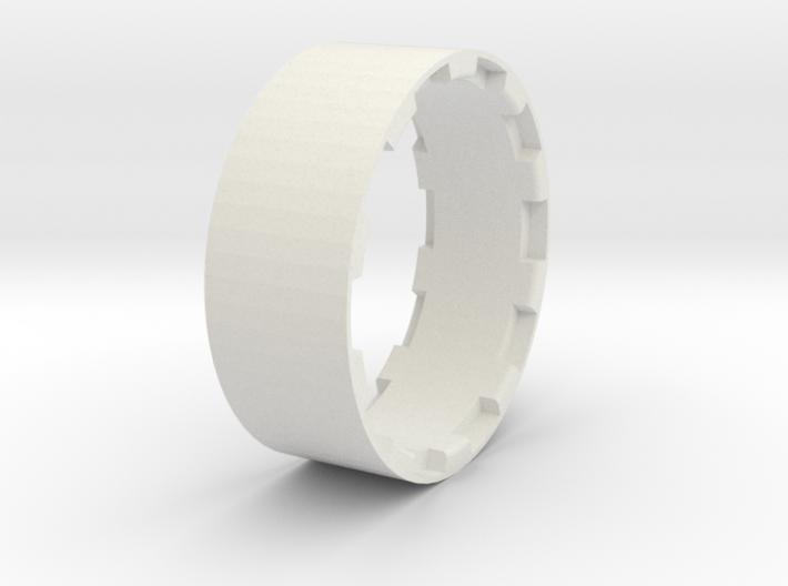 sawtooth beatlock wheels 2.0, part 3/3 ring 3d printed