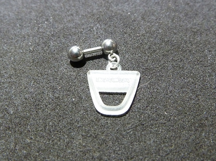 Dacia Earring fine detail 3d printed piercing barbell with Dacia logo
