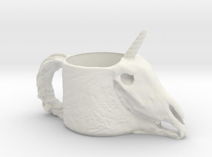 Unicorn Skull Cup 3d printed