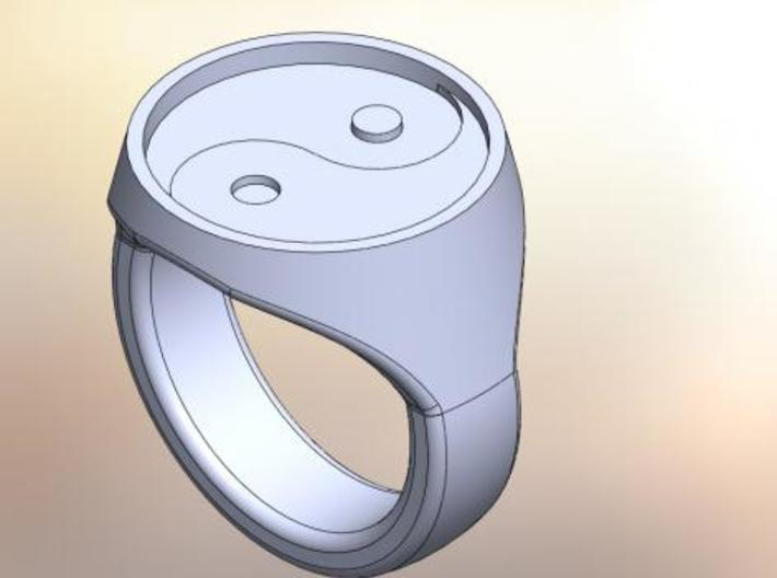 Yinyang Signet Ring 3d printed CAD rendering of the ring
