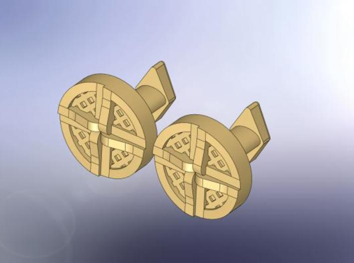 Shield Knot cuff links 3d printed