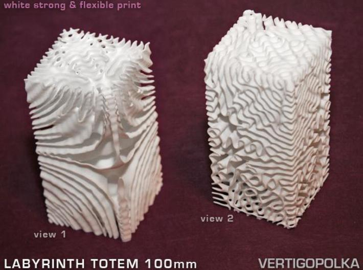 Labyrinth Totem 100mm 3d printed WSF print