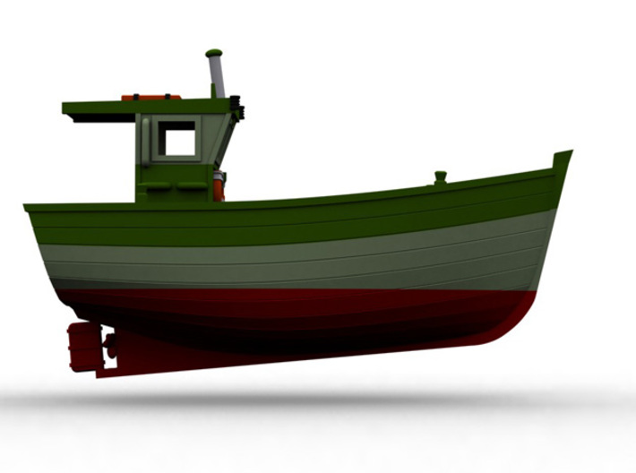 Nbat11  - Small fishing boat 3d printed